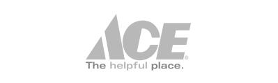 gray ACE company logo