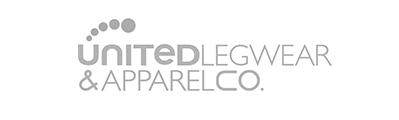 gray United Legwear & Apparel Co. logo